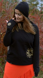 BLUZA SHAKTI  GOLDEN MANDALA  BLACK